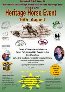 Heritage Horse Day Flyer 16th August